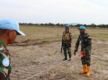 Satgas Kizi TNI Konga XXXVII-E MINUSCA CAR Perbaiki Garis Pertahanan di Afrika Tengah