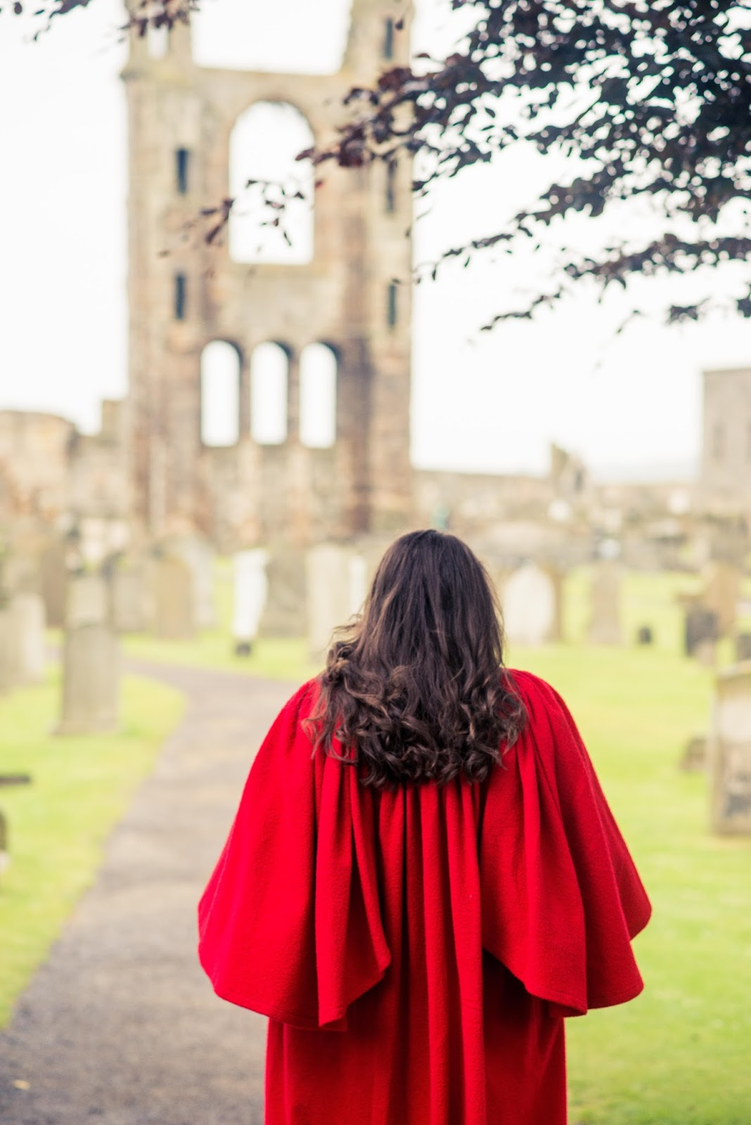 st andrews cathedral red gown photo shoot graduation