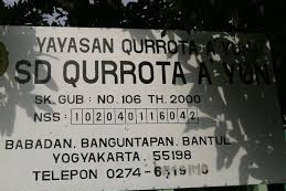 Profil Perpustakaan Sekolah SD Qurrotaayun, Desa Babadan, Bantul Yogyakarta