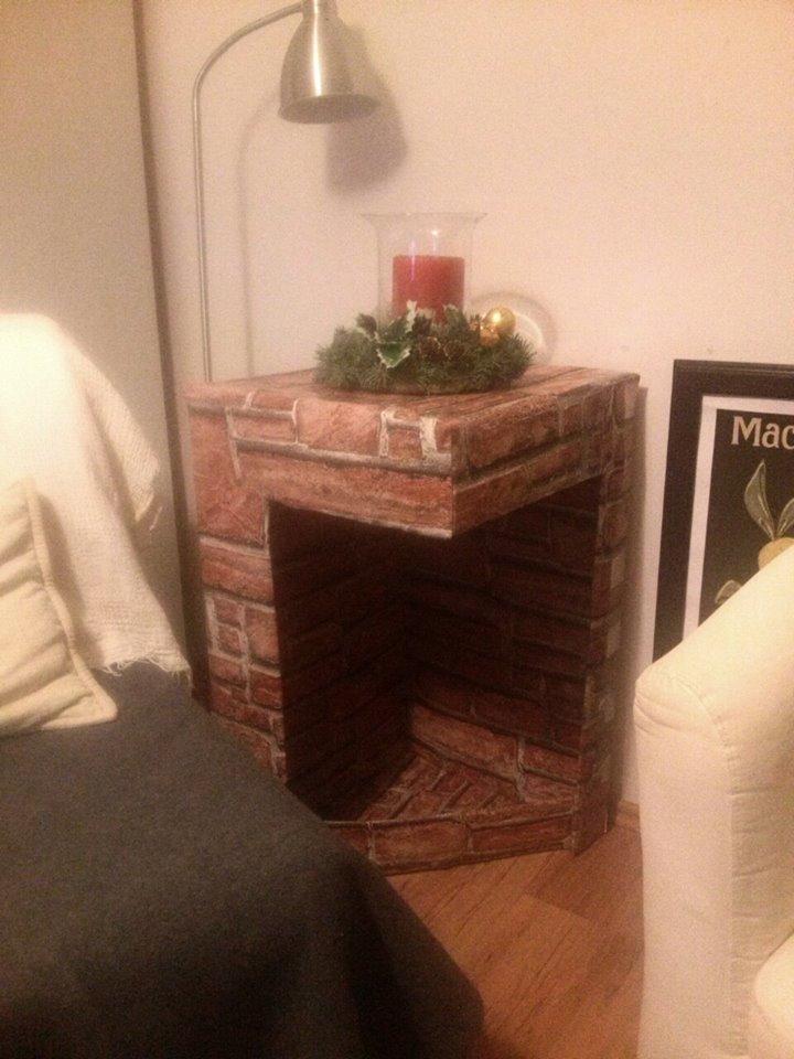 isCraFT: Handmade cardboard fireplace DIY / kominek z kartonu