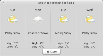 Weather Indicator Forecast, Linux, Ubuntu