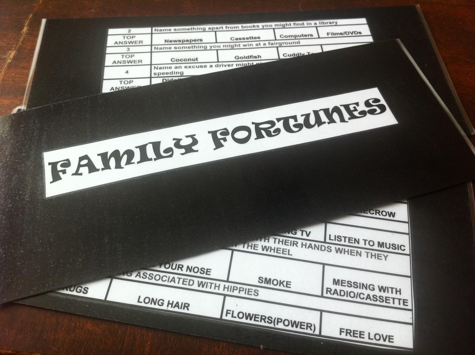ESL Family Fortunes - ESL Kids Games