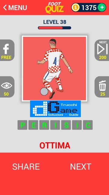 FootQuiz Calcio Quiz Football ( EURO 2016) soluzione livello 31-40