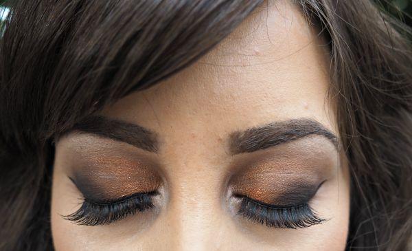 Bronze Smokey Eye Makeup Look