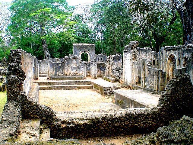 Gedi ruins Mombasa Kenya