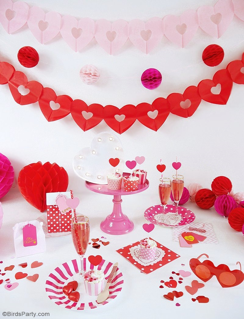 A Crafty Valentine's Day Party - full of DIY details, decorations, food and ideas to help you style a creative party for your kids or girlfriends on love day! | BirdsParty.com