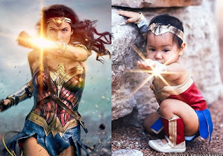 A superhero in the making! Adorable baby transforms into Wonder Woman for fun photoshoot that sees her put her own sweet twist on the comic book favorite