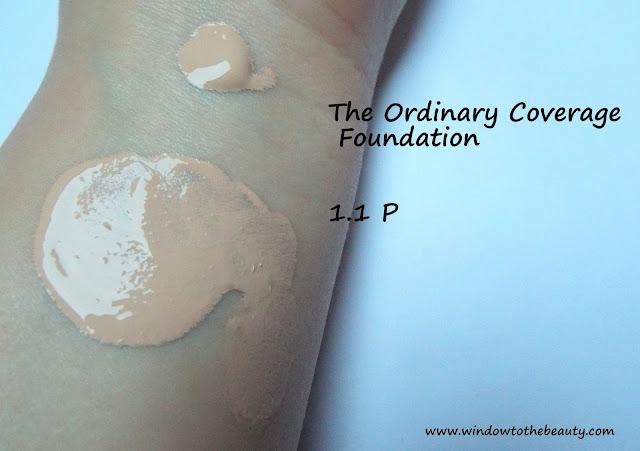 Coverage Foundation 1.1p swatches