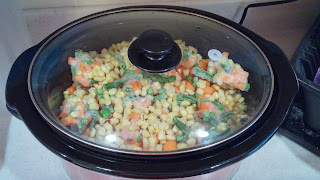 Chicken pot pie in the slower cooker