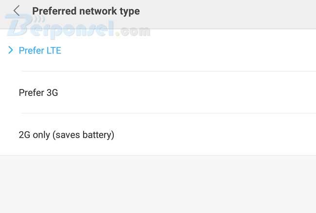 Cara Mengaktifkan Jaringan  4G Only di mi note