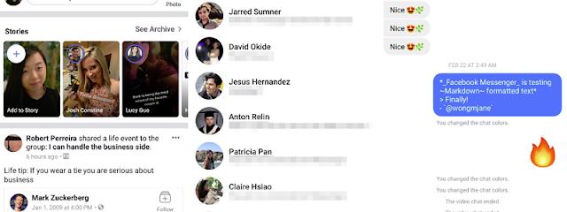 يتطلع الفيسبوك إلى إعادة إرسال الرسائل إلى التطبيق الرئيسي