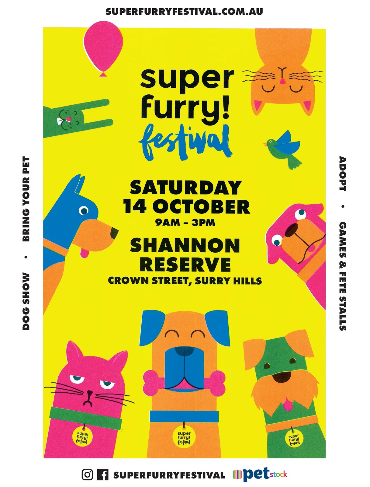 Super Furry Festival for Dogs 2017 - Official Poster