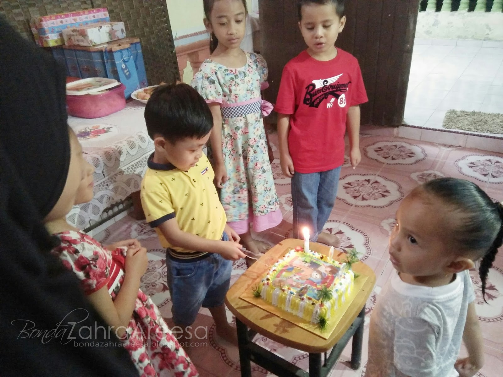 selamat hari lahir sepupu zahra, sambutan hari lahir