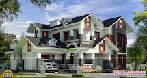 House with Dormer Windows Design