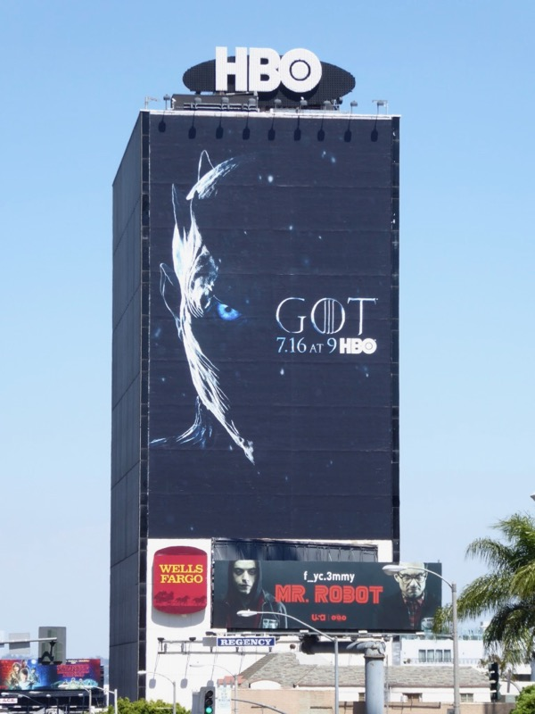 Giant Game of Thrones season 7 teaser billboard