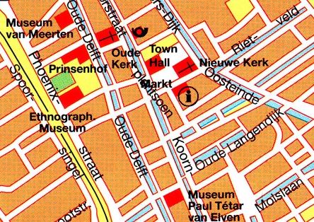 Mapa Delft