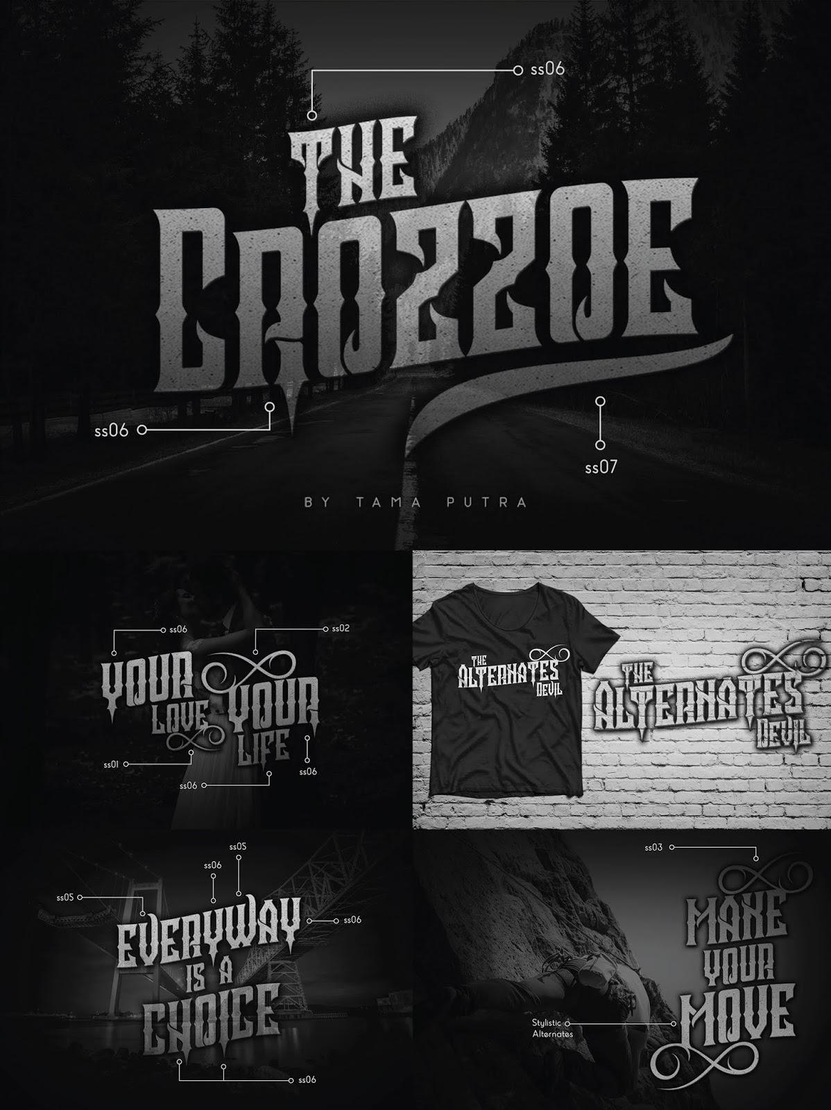font, typeface, crozzoe, decorative, gothic, rebel, serif, victorian