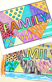 Free Family Pop Art Coloring Pages- print and color with the kiddos!