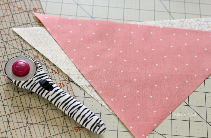 Cutting fabric for a personalized pet bandana. | pitterandglink.com