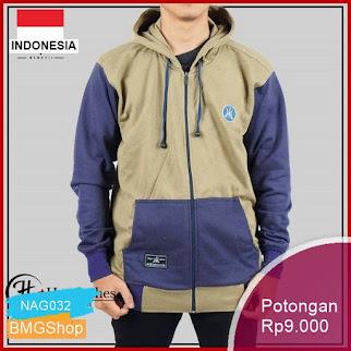NAG032 Jaket Cowok Big Size Jumbo Fleece Murah Bmgshop
