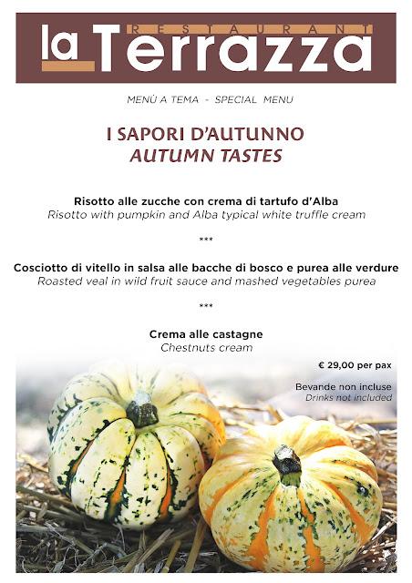Menù speciali per riscoprire i sapori dell'autunno al Ristorante La Terrazza a Milano