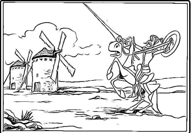 colorear Quijote