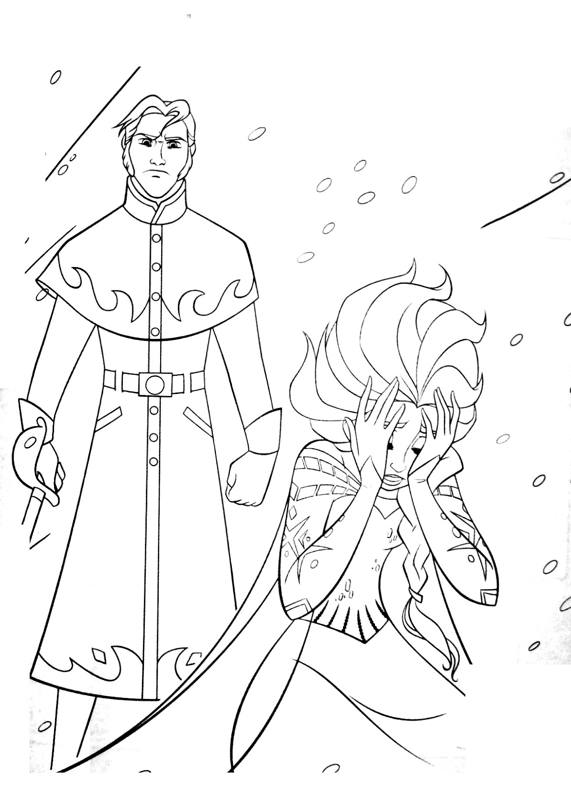 Tranh tô màu Elsa 07