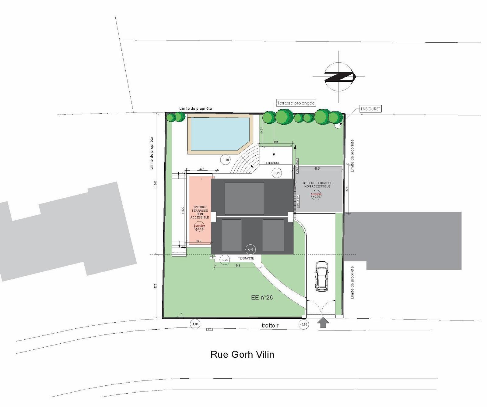 Plan de masse maison individuelle for Plan de situation pour permis de construire