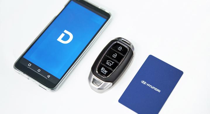 스마트폰 기반 디지털키, 차량 도어 잠금 해제, 시동 및 주행까지