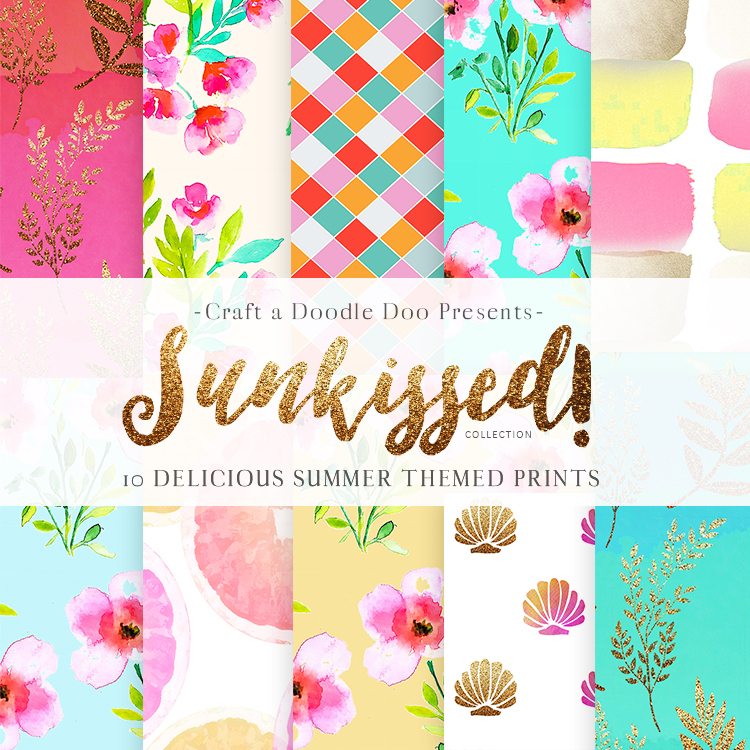 FREE Summer 2017 Digital Prints Collection for download -Craft A Doodle Doo #free #printable #summer #collection #download #watercolors