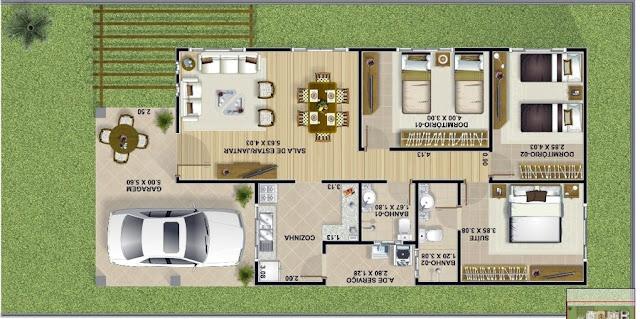 denah rumah minimalis 1 lantai ukuran 6x15