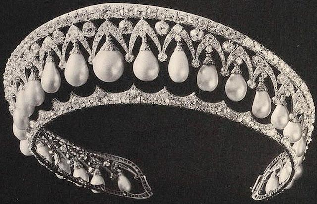 empress alexandra feodorovna russia bolin pearl drop kokoshnik tiara