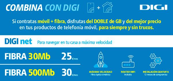 Digi oferta fibra Almería