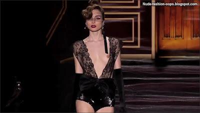 catwalk models tits oops videos