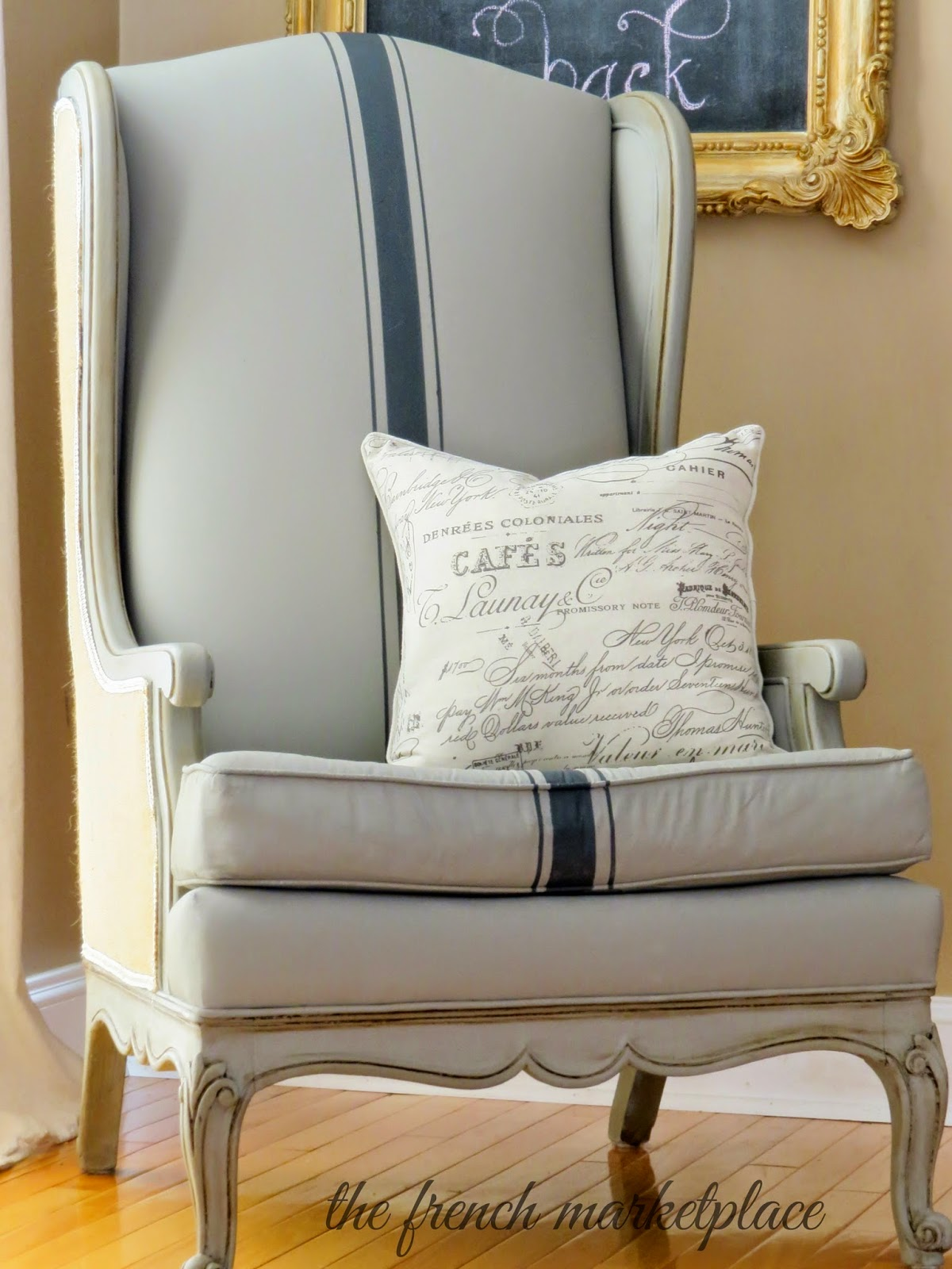 Can I Spray Paint My Leather Sofa Covers Black And White Musings From A French Cottage The Painted Chair