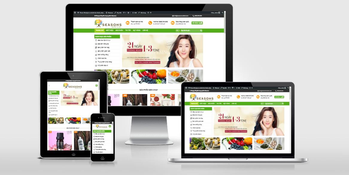 Theme WordPress dược phẩm đã Việt hóa