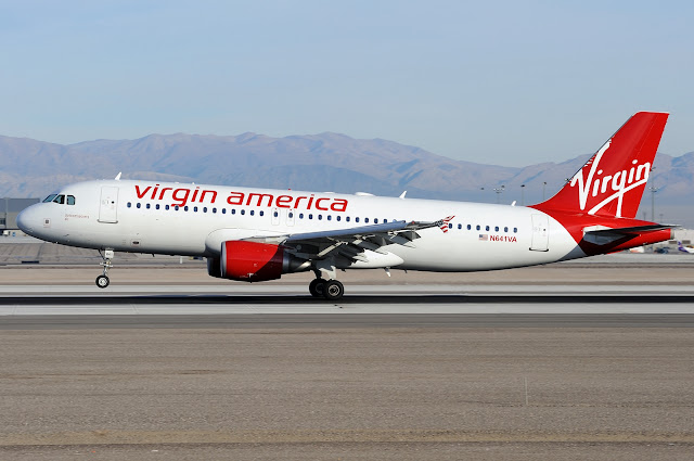 Virgin America Airbus A320, Rotating Takeoff