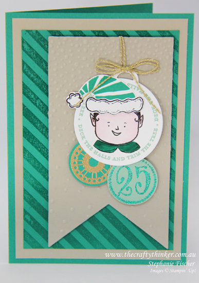 Stampin Up, #thecraftythinker, Christmas Card, Jolly Friends, Merriest Wishes, Xmas, Stampin Up Australia Demonstrator, Castle Hill