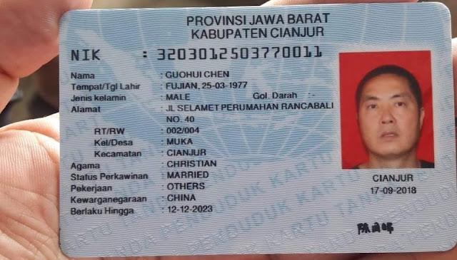 KPU Pastikan KTP WNA China Di Cianjur Palsu