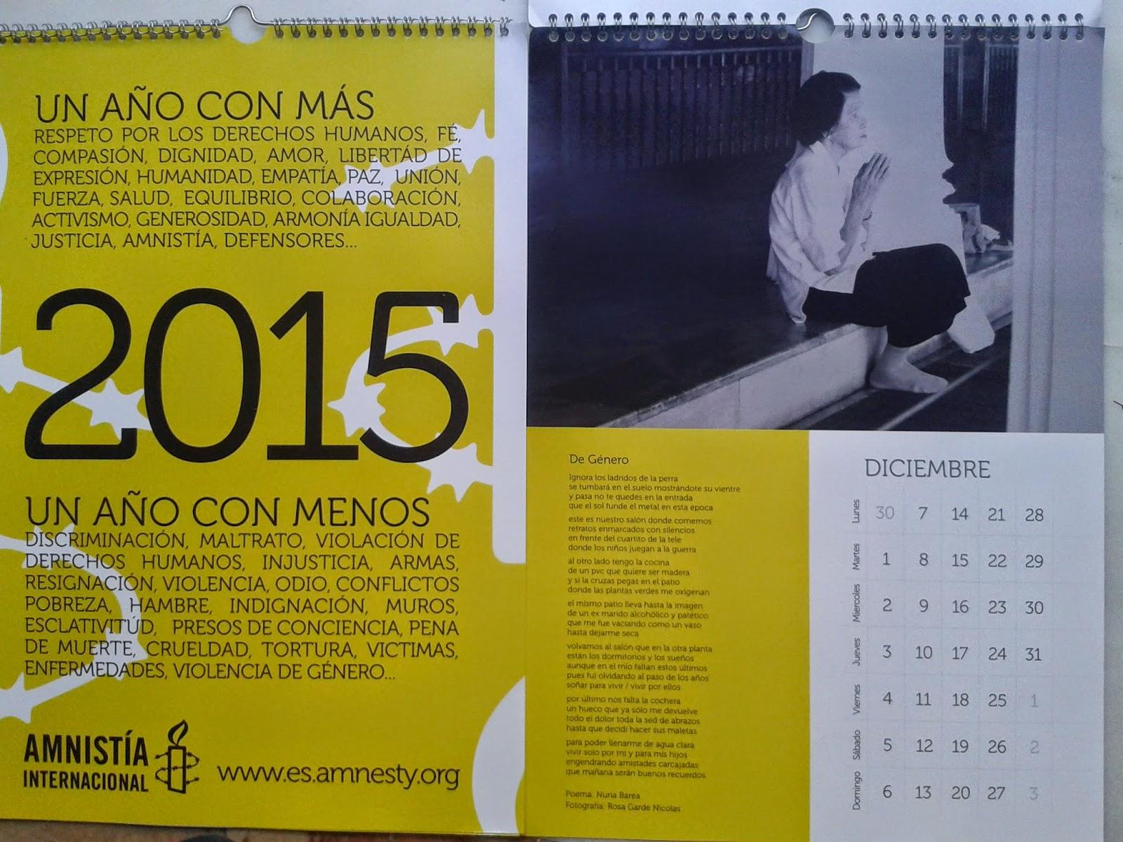 Calendario Diciembre, de género
