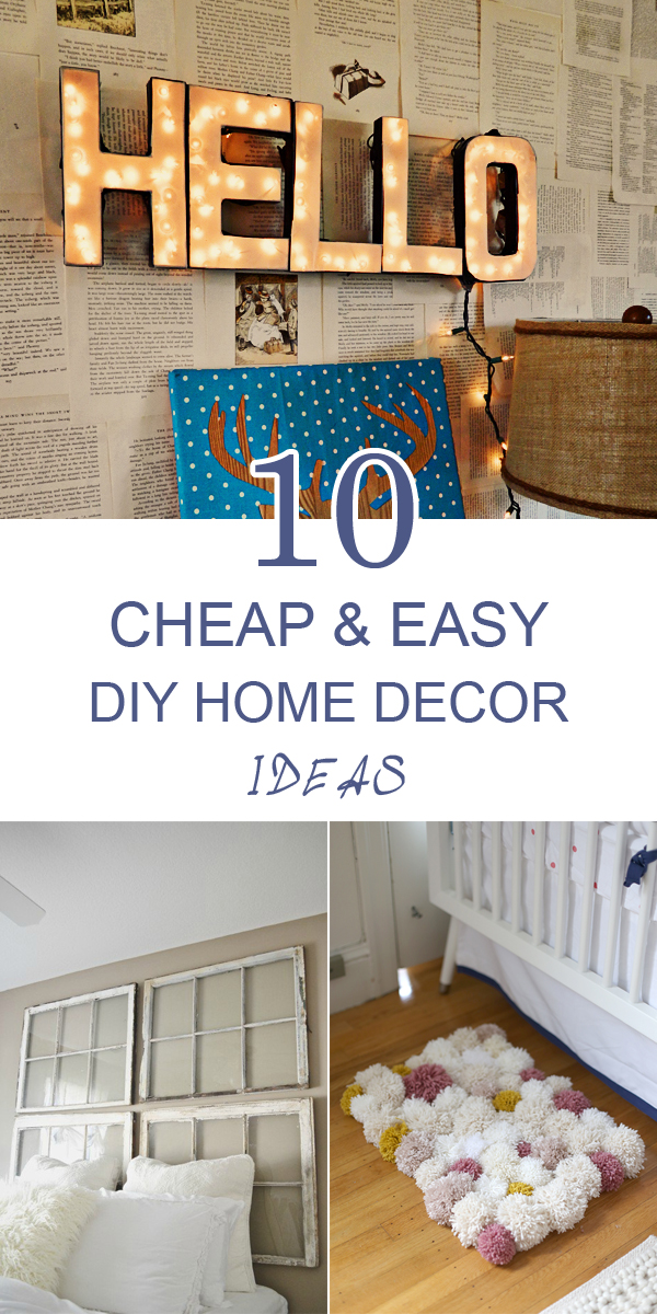 10 cheap and easy diy home decor ideas frugal homemaking for Inexpensive home decor
