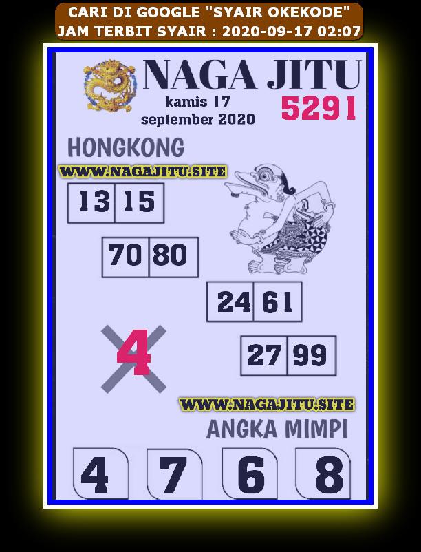 Kode syair Hongkong Kamis 17 September 2020 160