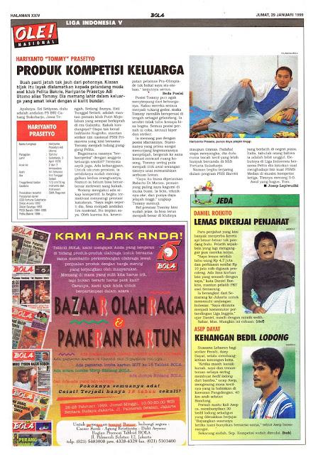 LIGA INDONESIA PROFIL PEMAIN HARIYANTO PRASETYO