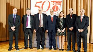 50 aniversario del INEF y aparecen sus dirigentes en la celebración