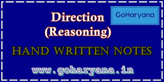 Download Direction (Reasoning) Hand Written Notes PDF in Hindi