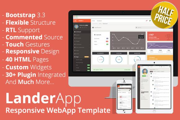 LanderApp – Responsive WebApp Bootstrap