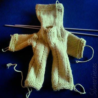 chaqueta tricotada 2x1