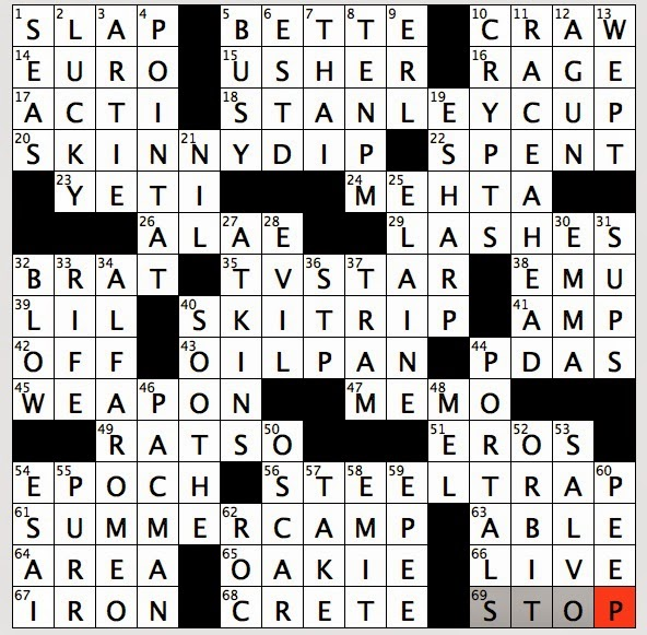 Very sexy crossword answer