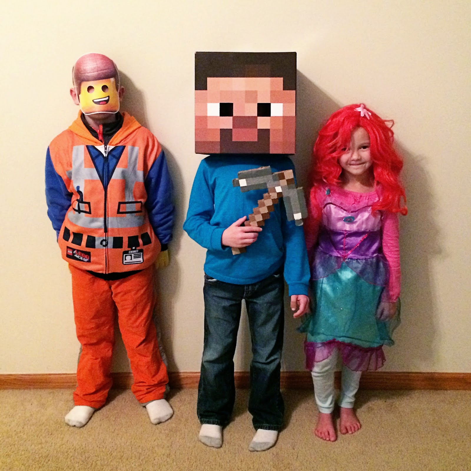 The Almost Perfectionist: Happy Halloween/Thanksgiving ...Steve Minecraft Costume Party City