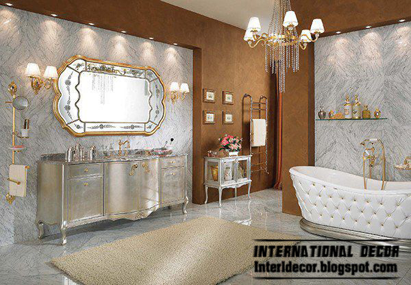 royal bathroom designs with luxurious accessories and furniture